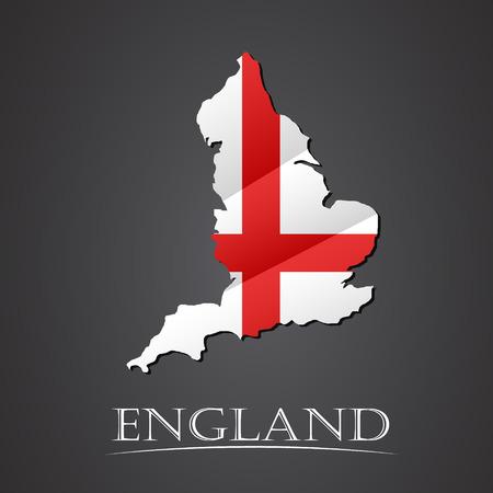 Map of england. vector illustration Illustration
