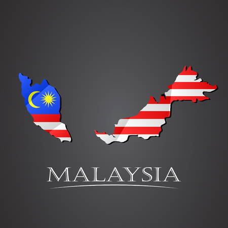 Map of malaysia. vector illustration