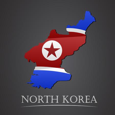 korean national: Map of north korea. vector illustration