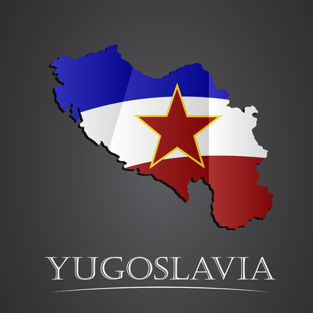 yugoslavia: Map of yugoslavia. vector illustration