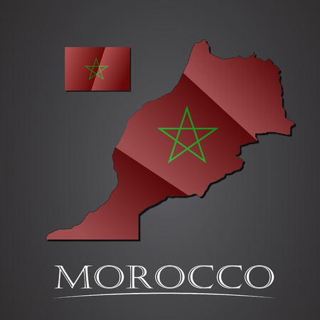 Map of morocco. vector illustration