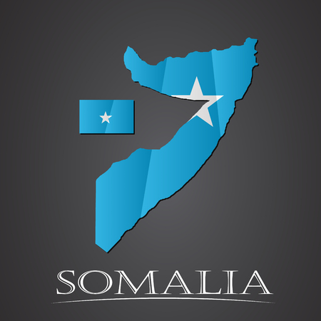 pentacle: Map of somalia. vector illustration