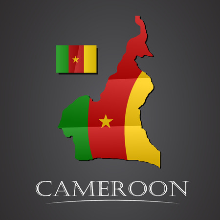 cameroon: Map of cameroon. vector illustration