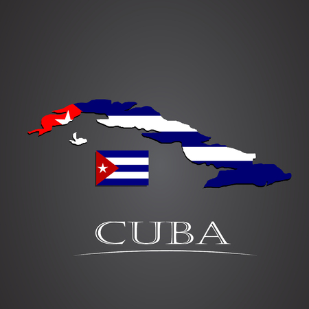 havana cuba: Map of cuba. vector illustration