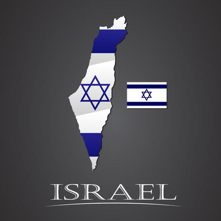 gaza: Map of israel. vector illustration