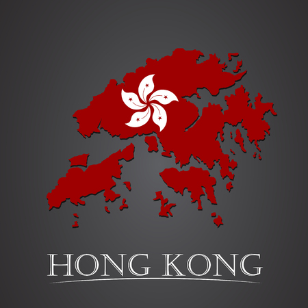 Map of hong kong. vector illustration