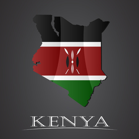 kenya: Map of kenya. vector illustration