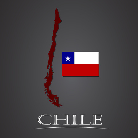 santiago: Map of chile. vector illustration