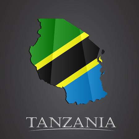 tanzania: Map of tanzania. vector illustration Illustration