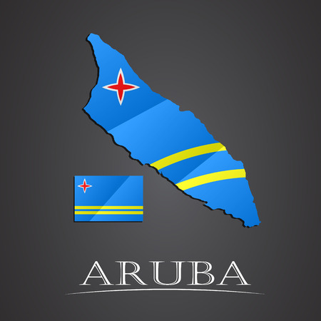 aruba: Map of aruba. vector illustration