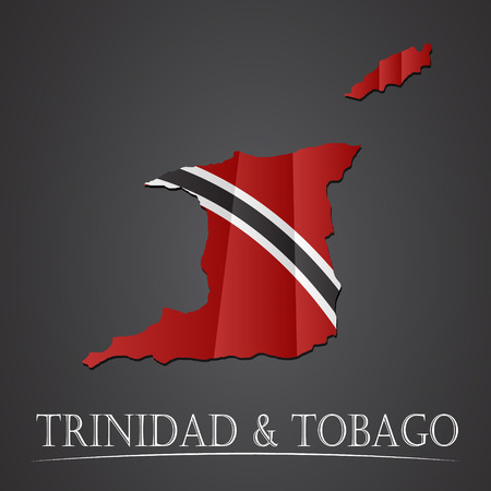 port of spain: Map of trinidid & tobago. vector illustration Illustration