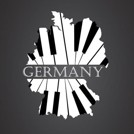deutschland karte: Deutschland Karte von Klavier gemacht