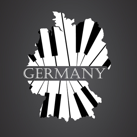 germany map made from piano