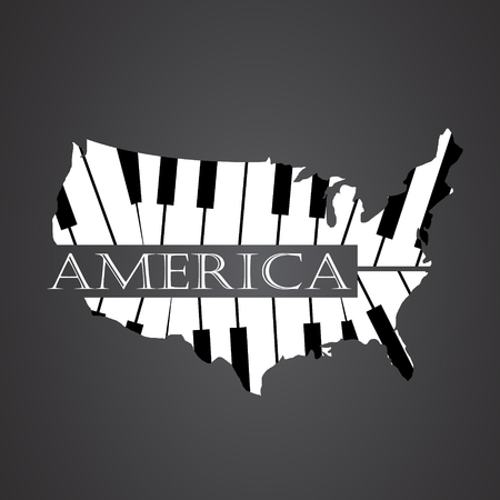 mapa america hecho de piano de