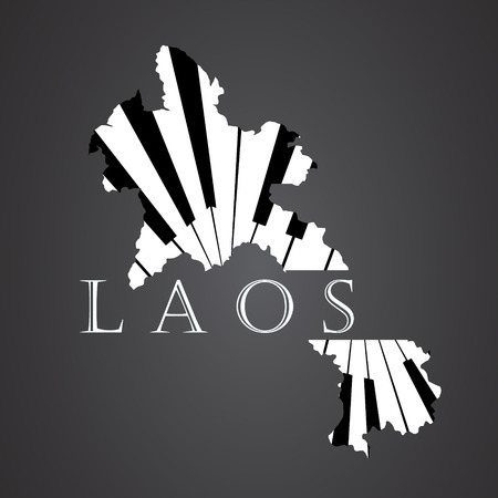 laos map made from piano