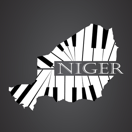 niger map made from piano Illustration