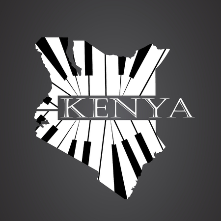 kenya: kenya map made from piano