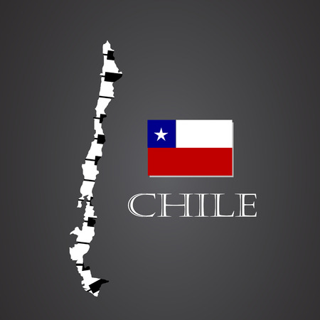 chile map made from piano