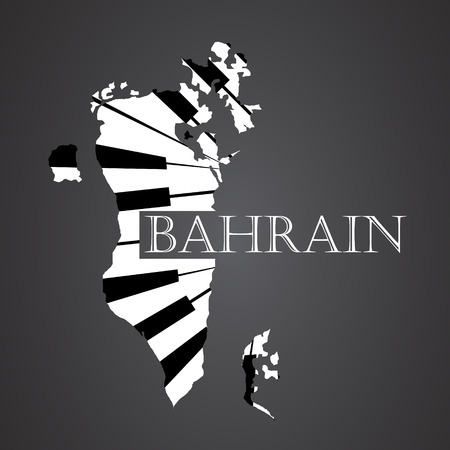 bahrain map made from piano