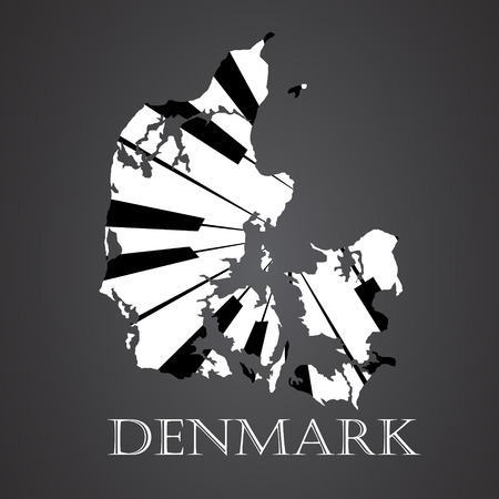 denmark map made from piano