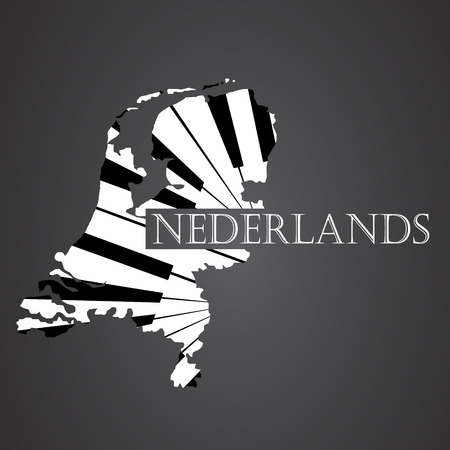 nederlands map made from piano