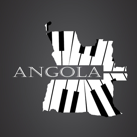 angola map made from piano Illustration