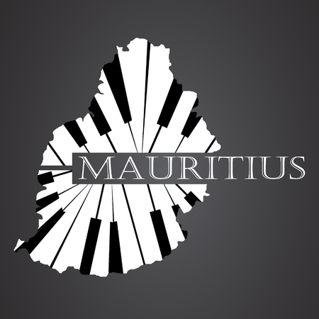 mauritius map made from piano