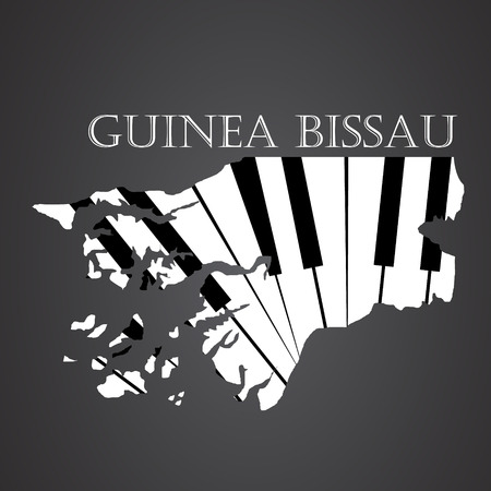 guinea bissau map made from piano