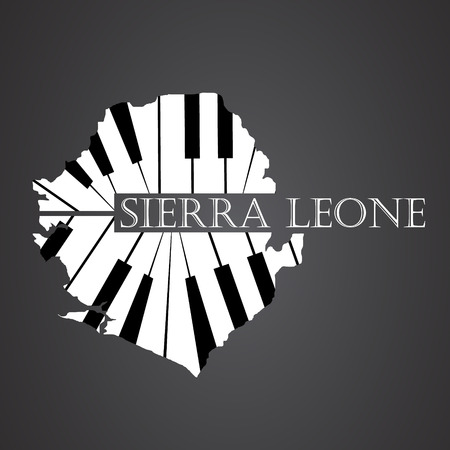 sierra leone map made from piano