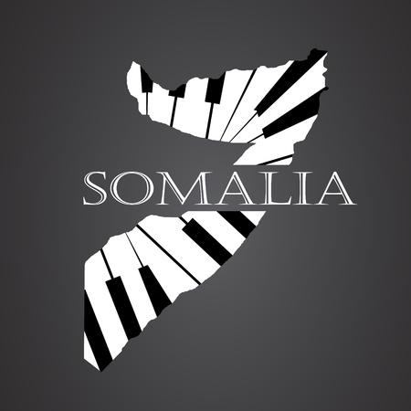 somalia map  made from piano