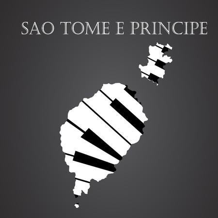 sao tome e principe map made from piano