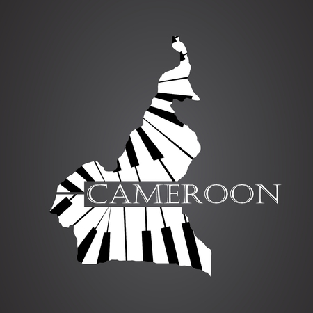 cameroon map made from piano