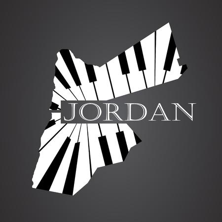 jordan: jordan map made from piano