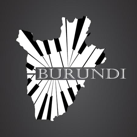 burundi map made from piano