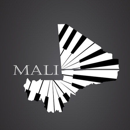 mali map made from piano