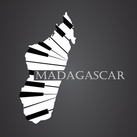 madagascar map made from piano