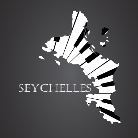 creole: seychelles map made from piano