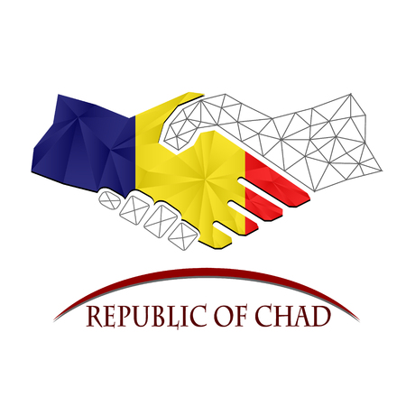 Handshake logo made from the Republic of Chad.