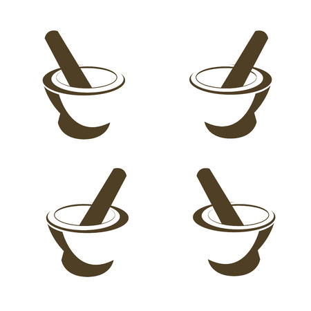 Mortar and pestle pharmacy icon