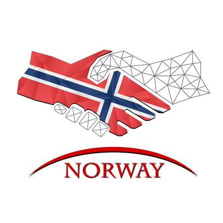 gewerkschaft: Handshake logo made from the flag of Norway.