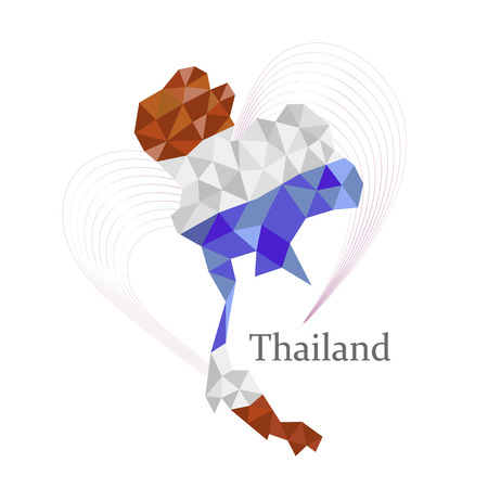 Thailand map in geometric polygonal concept design