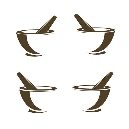 乳鉢と乳棒の薬局アイコン