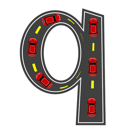 Road Letter Alphabet Font Vector Illustratie