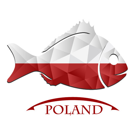 fish logo made from the flag of Poland.