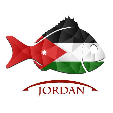 oslo: fish logo made from the flag of Jordan.