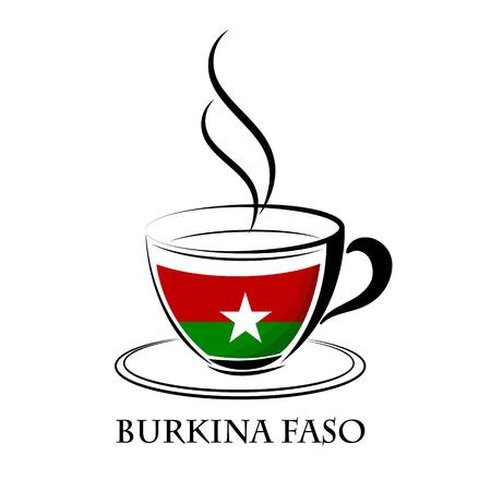 coffee logo made from the flag of Burkina Faso