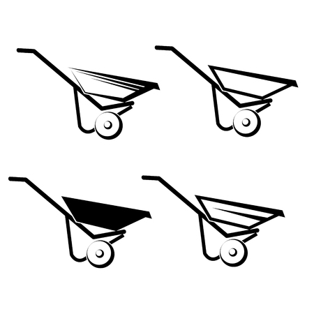 hauling: Wheelbarrow Icon on white background
