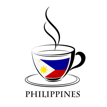 coffee logo made from the flag of Philippines
