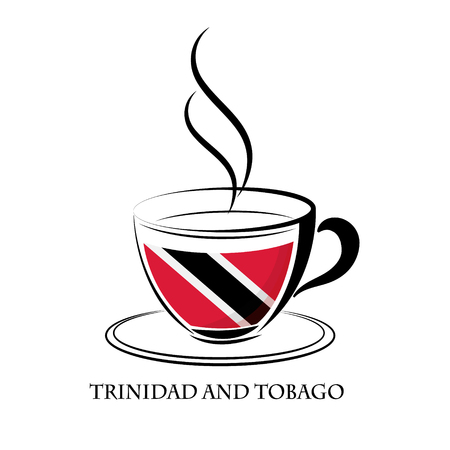 coffee logo made from the flag of Trinidad and Tobago