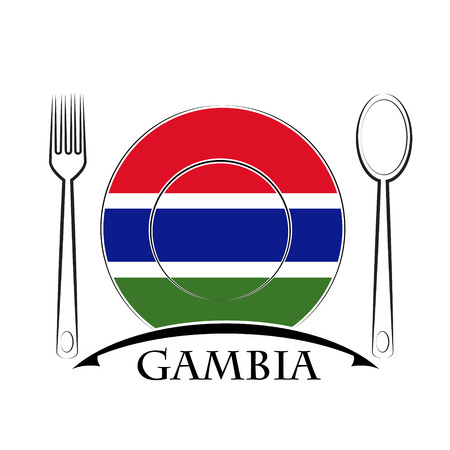 gambia: Food  logo made from the flag of Gambia